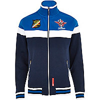 Navy racing badge track top