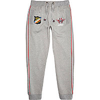 Grey racing badge joggers