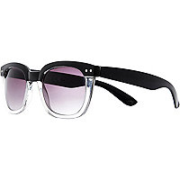 Black two tone retro sunglasses