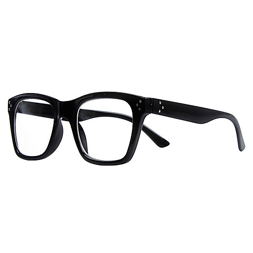 Black clear geek glasses