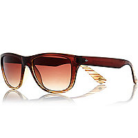 Brown two tone retro sunglasses