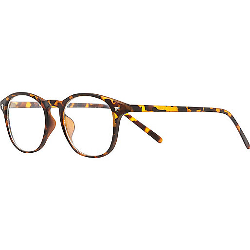 Brown tortoise shell geek glasses