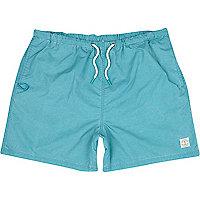 Turquoise short swim shorts