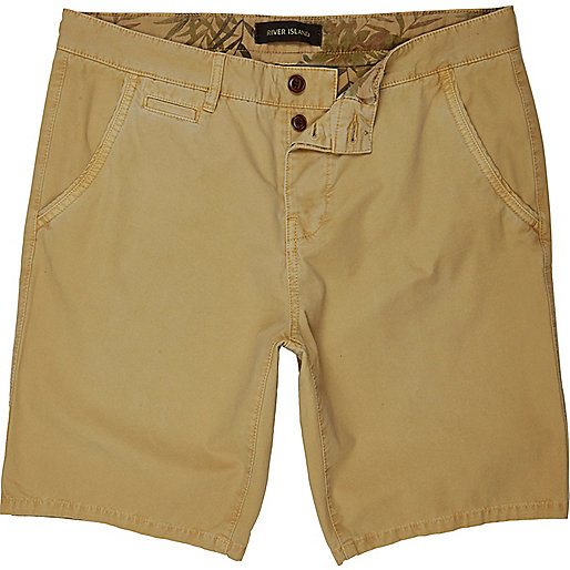 Tan chino shorts