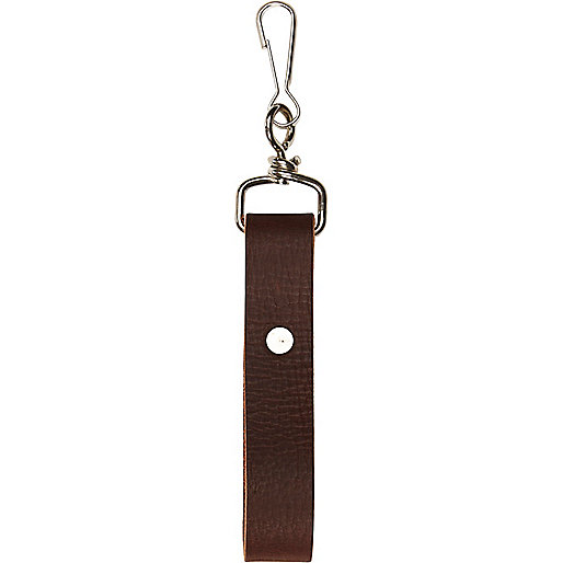 Brown leather key loop