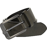 Grey perforated belt