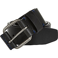 Black contrast stitch belt