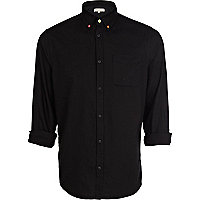 Black neon button Oxford shirt