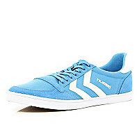 Blue Hummel slim trainers