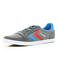 Grey Hummel slim trainers