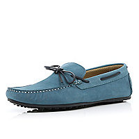 Light blue contrast lace boat shoes