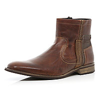 Brown smart ankle boots