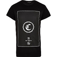 Black C chain print t-shirt
