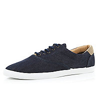 Navy denim plimsolls