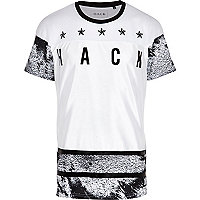 White Hack oil star print t-shirt