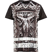 Grey Hack statue print t-shirt