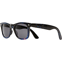 Grey cosmic print retro sunglasses