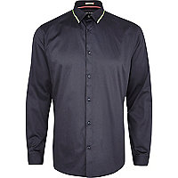 Grey fluro trim long sleeve shirt