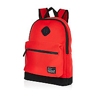Red neoprene backpack