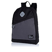 Black slanted pocket backpack