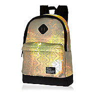 Yellow diamond print backpack