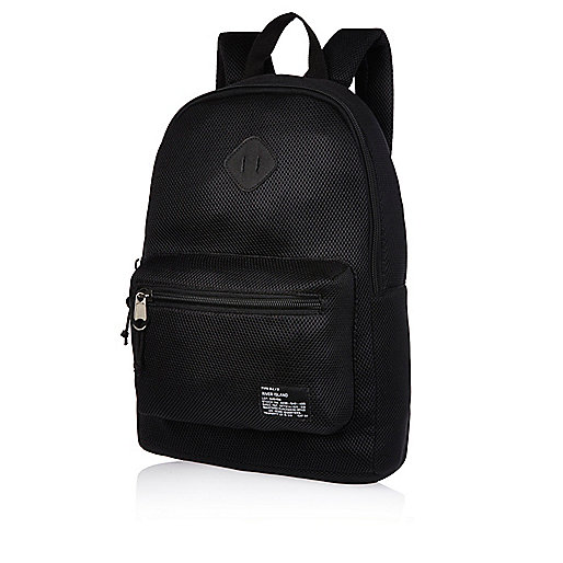 Black mesh backpack