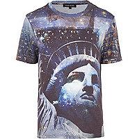White Statue of Liberty print t-shirt