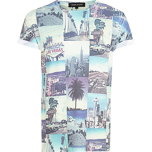 White Las Vegas photo print t-shirt