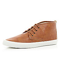 Brown mid tops