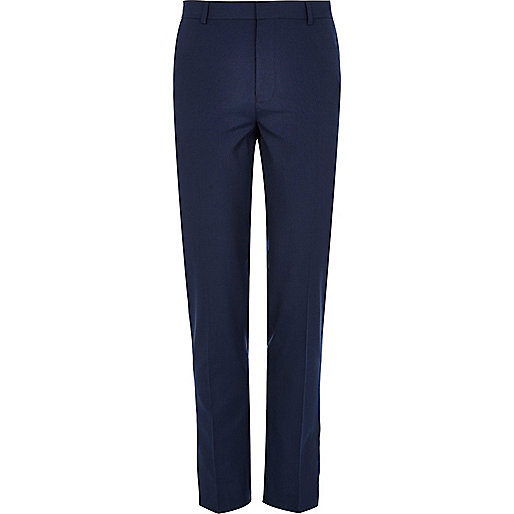 Dark blue skinny smart trousers