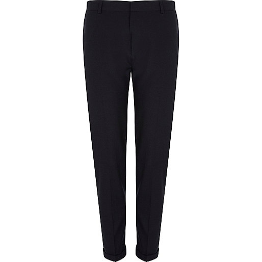 Dark grey dogtooth smart skinny trousers