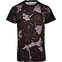 Black Systvm rose print t-shirt