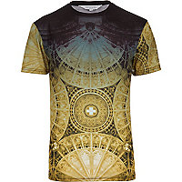 Yellow Systvm church ceiling print t-shirt