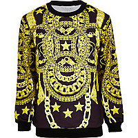 Black Systvm curb chain print sweatshirt