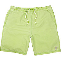 Green mid length swim shorts
