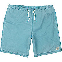 Turquoise mid length swim shorts