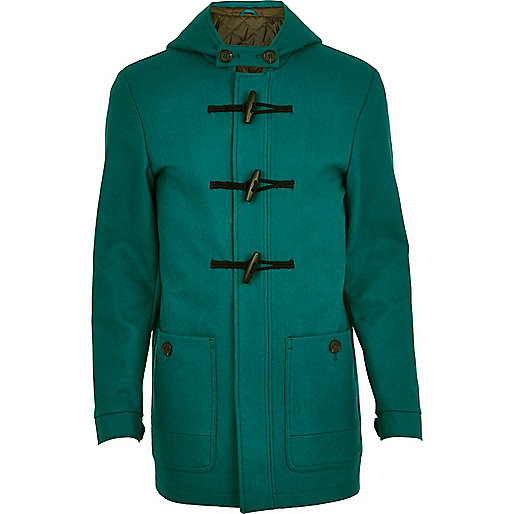 Teal duffle coat