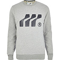 Grey marl Boxfresh graphic print sweatshirt