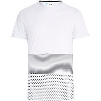 White Boxfresh spliced print t-shirt