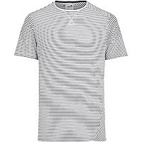 White Boxfresh mixed stripe t-shirt