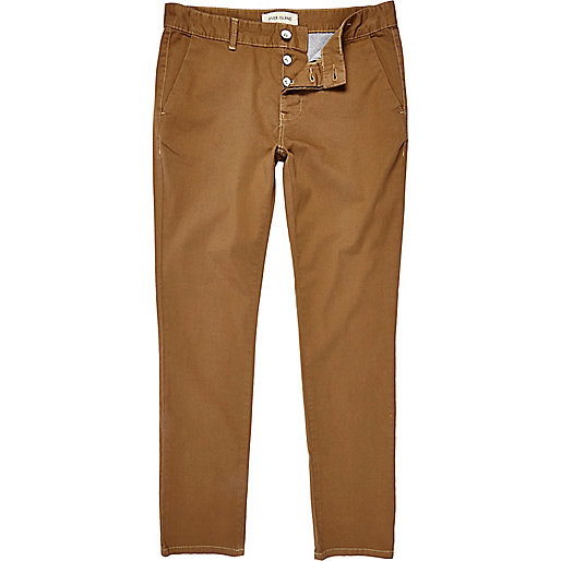 Light brown skinny stretch chinos