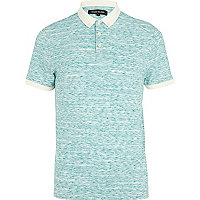 Light green space dye polo shirt