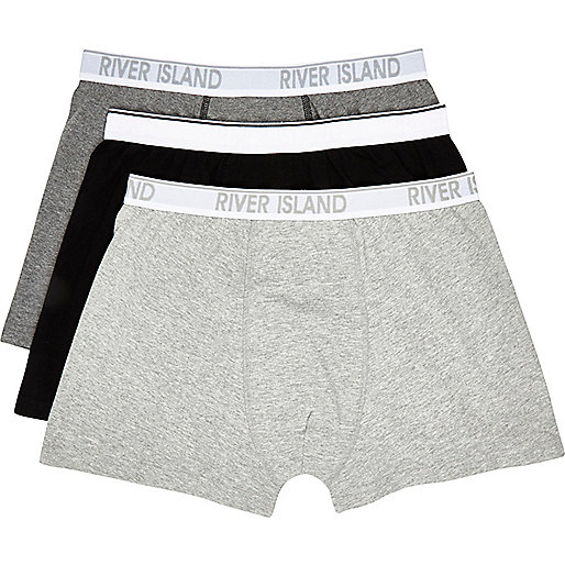 Black and grey boxer shorts pack