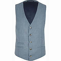 Light blue smart waistcoat