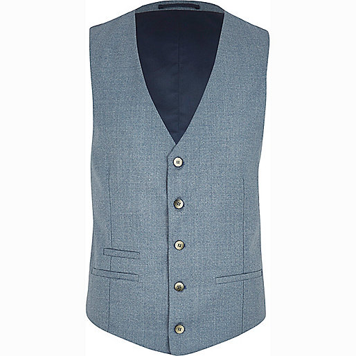 Light blue smart waistcoat
