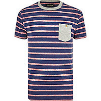 Navy space dye stripe t-shirt