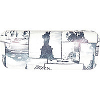 Black and white NY montage sunglasses case