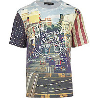 Blue San Francisco print t-shirt