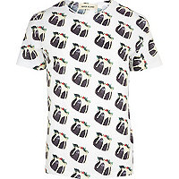 White Christmas pudding print t-shirt