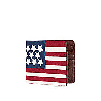 Red stars and stripes canvas wallet